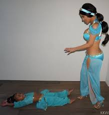 princess jasmine halloween kim kardashian takes halloween pics with kanye north and saint in