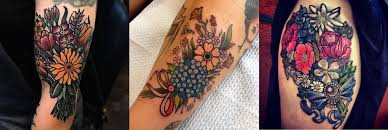 13 colorful and everlasting bouquet tattoos u2013 staciemayer com
