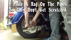 how to change remove rear tire on a suzuki intruder vl1500 and