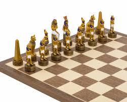 ancient chess the ancient egypt hand painted themed chess pieces by italfama