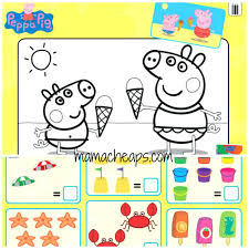 peppa pig colouring pages online for toddlers kids fun coloring