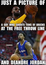 Deandre Jordan Meme - nba memes on twitter lebron james deandre jordan clippers