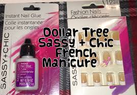 dollar tree sassy chic artificial nails instant glue demo