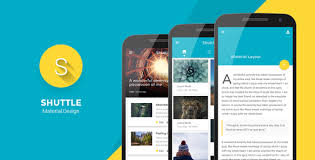 shuttle material design mobile template by codnauts themeforest