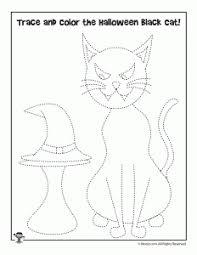 preschool halloween worksheets tracing cutting u0026 matching woo