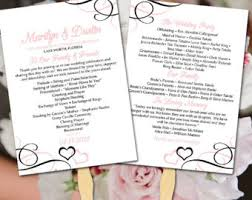 Beach Wedding Program Templates Beach Wedding Program Fan Template Malibu Blue Gray Ceremony