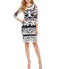 betsy and adam dresses betsy adam sleeve soutache mesh dress dillards