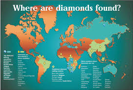 Production Map Gem Quality Mining Countries Jcrs Diamonds General Information