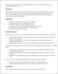 Military Police Officer Resume Sample by Professional Liaison Officer Templates To Showcase Your Talent