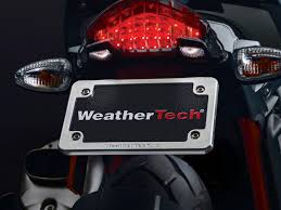 weathertech motorcycle billet aluminum license plate frame