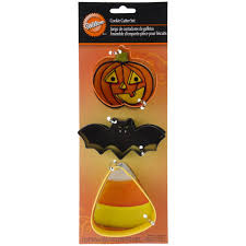 amazon com wilton bat candy corn pumpkin metal cookie cutter set