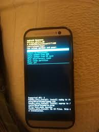 android htc htc one m8 stuck in android recovery after marshmallow update