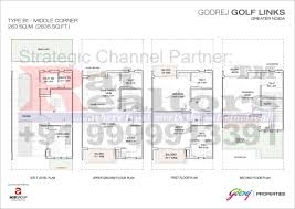 site plan floor plans godrej properties golf links 9999913391