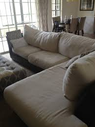 How To Fix Sofa Cushions Inside Out Design How To Do Buttonless Tufting On Couch Cushions