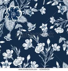Cherry Blossom Upholstery Fabric Vector Seamless Background Branch Cherry Blossoms Stock Vector