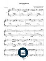 wedding dress chords piano the yiruma piano sheet
