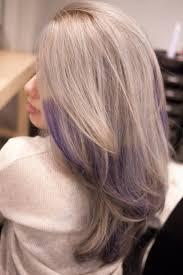 grey hair with purple highlights love it thank you salon vim