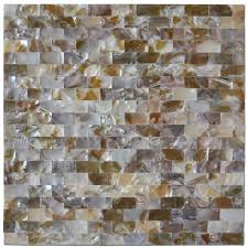 Artd Peel And Stick Mother Of Pearl White Shell Mosaic Tile For - Backsplash peel and stick