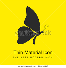 butterfly shape side view facing right stock vector 794298940