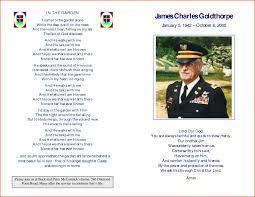 program for a memorial service memorial service program templateal invoice independent repair