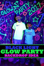 glow party diy black light glow party idea neon paint backdrop photo