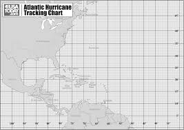 Hurricane Tracking Map Latitude And Longitude Hurricane Tracks Lab Print