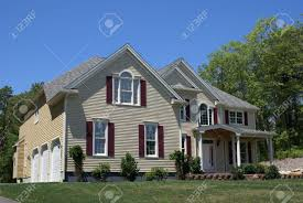 new house with 3 car garage stock photo picture and royalty free