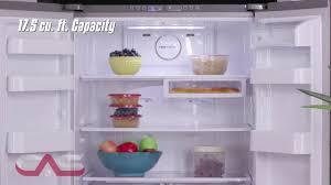 Samsung French Door Refrigerator Cu Ft - samsung rf18hfenbsr french door refrigerator 17 5 cu ft youtube