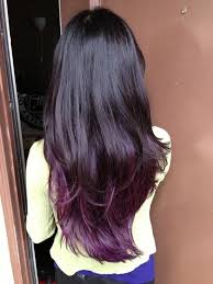 cut before dye hair best temporary purple hair dye set dark purple black hair and