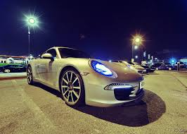 porsche night blue porsche night at ace cafe london