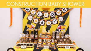 construction baby shower ideas construction s20