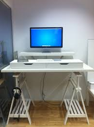Ikea White Desk Table by 10 Ikea Standing Desk Hacks With Ergonomic Appeal