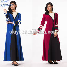 model baju wholesale new fashion printing satin muslim dress casual types of