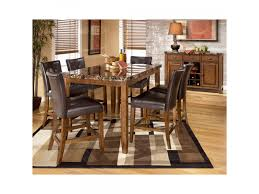 Dining Room Sets With China Cabinet Gorgeous 7 Pc Ashley Furniture Dining Room Set And China Cabinet