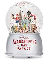 macy s thanksgiving day parade snow globe snow globes musicals