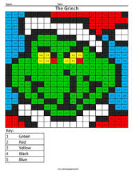 christmas addition subtraction coloring squared