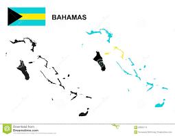 Bahama Islands Map Bahamas Map Vector Bahamas Flag Vector Isolated Bahamas Stock