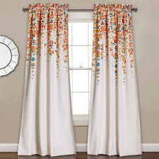 Half Window Curtain Moon Weeping Flowers Window Curtain Set