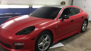 porsche vinyl vinyl wrap on porsche panamera youtube