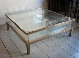 contemporary square glass coffee table large glass coffee table modern tables design short big square
