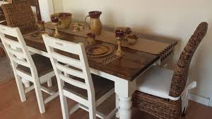 james and james tables james james 6 baluster table in dark walnut and ivory farmhouse