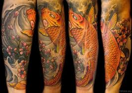 65 fancy fish tattoos on arm