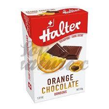 halter bonbon orange filled chocolate no sugar 36g