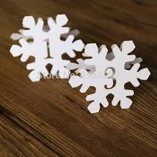 themed table numbers snowflake table numbers free standing winter themed table number