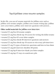 Resume Samples With Photo by Oceanfronthomesforsaleus Remarkable Top Jollibee Crew Resume