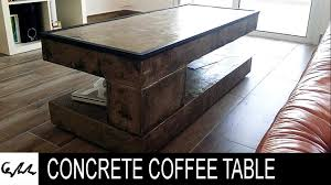 diy extreme concrete coffee table youtube