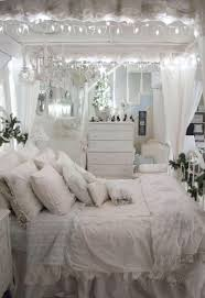 shabby chic bedroom with a nice and warm room and decorative light