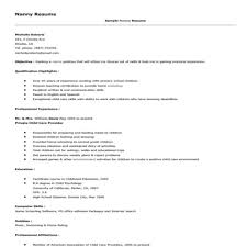 sample resume of a nanny nanny resume examples resume example