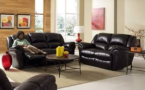 small space living room furniture with classic black sofa feat