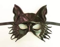 leather masquerade masks leather mask etsy